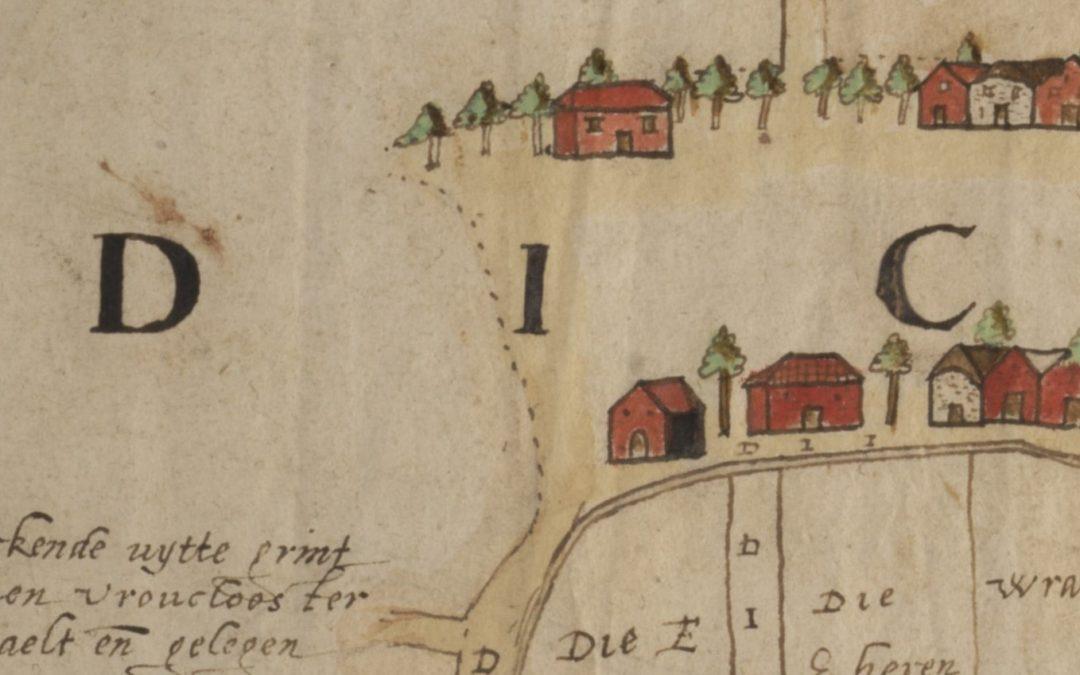 De oudste kaart van het dorp Odijk (1583)