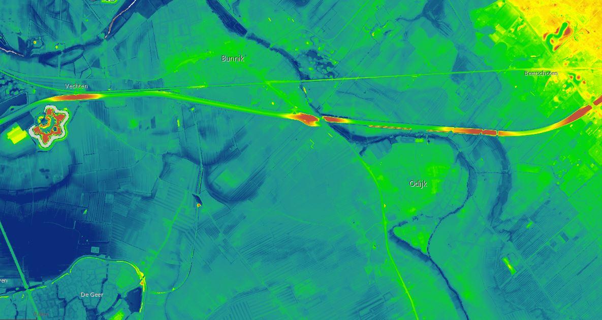 oude rivierbeddingen rondom Odijk