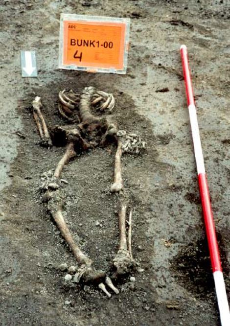 Skelet van een jongeling, gevonden op terrein van Co Peek (2000)