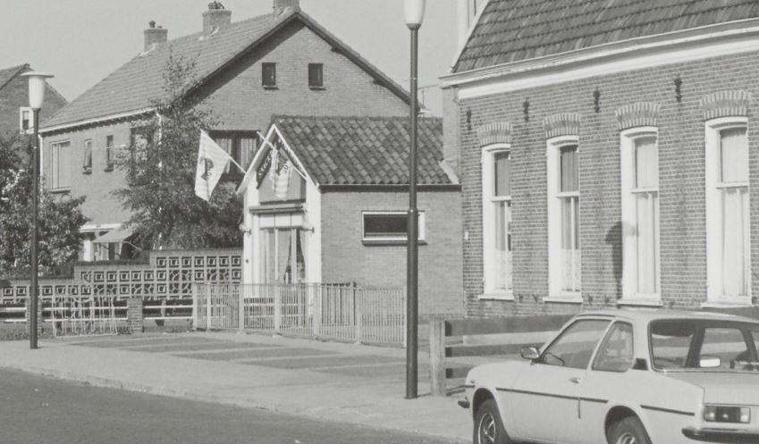 Snackbar De Fijnproever in 1978, waar in 1958 64 diepvriescellen werden gerealiseerd (foto: RHCZOU)
