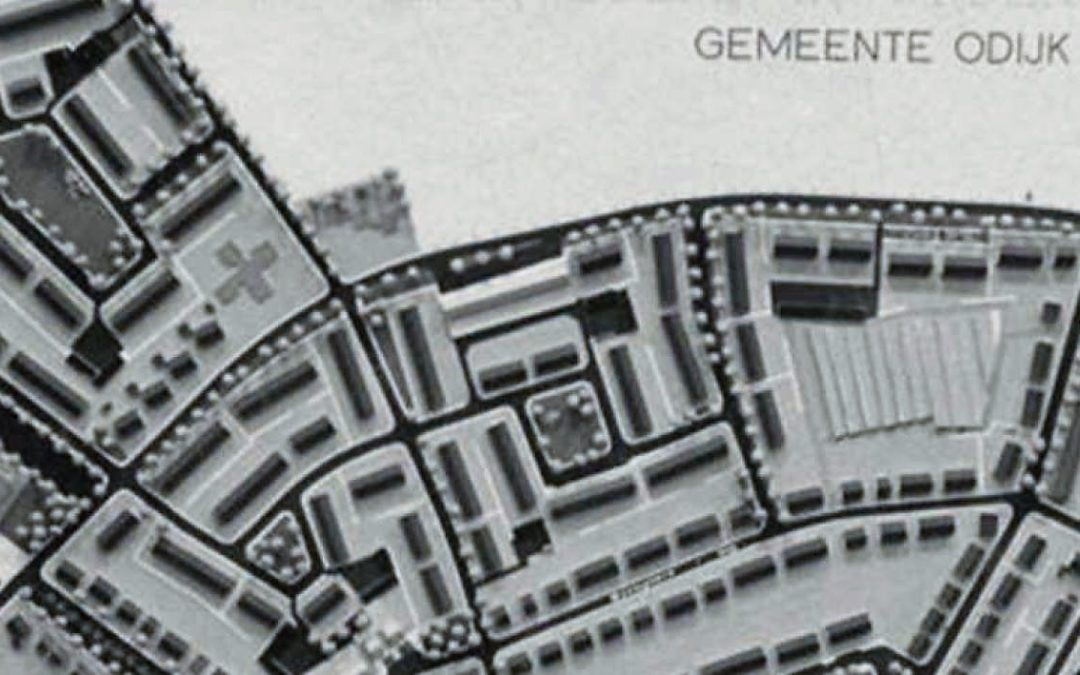 Detail van Plan de Meent in Odijk 1965