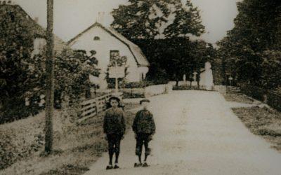De Odijkse Dorpstraat op een ansichtkaart (1910)